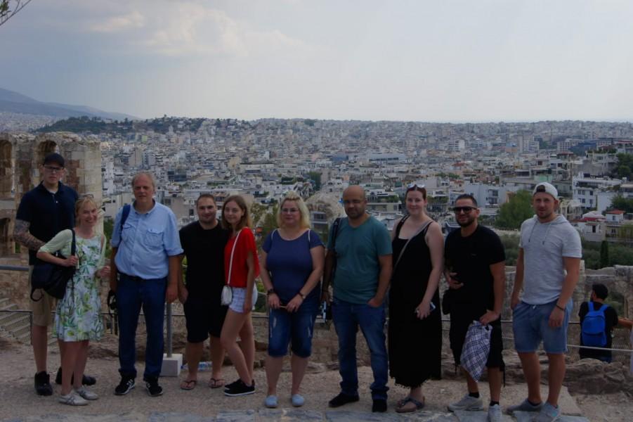 Zehn der vierzehn Athen-Reisenden, Foto: Hakki Acar