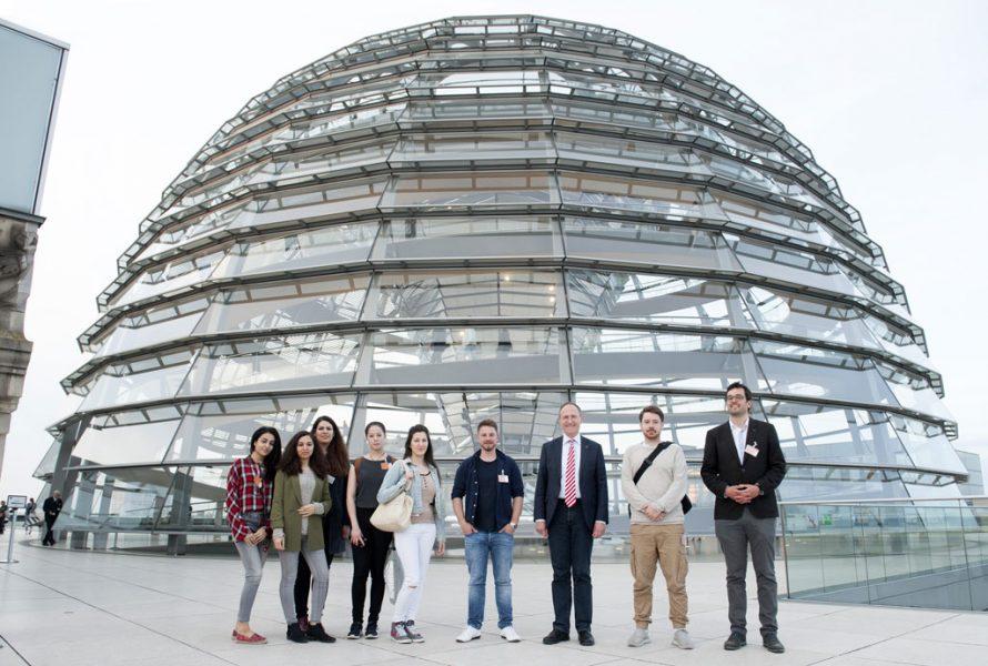 Peter-A.-Silbermann-Schule - Exkursion in den Bundestag - Besuch der Reichstagskuppel