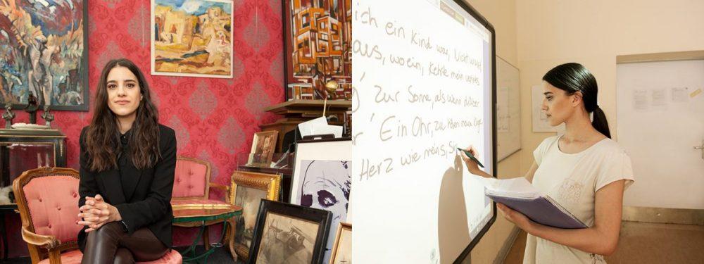 Online-Ausstellung Blick nach vorn: Sherin, 23 Jahre alt, Kunsthändlerin